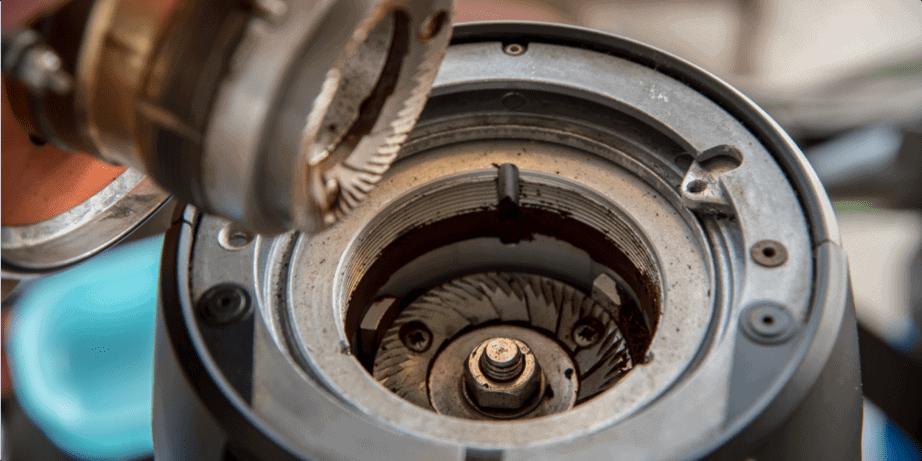 clean a coffee grinder
