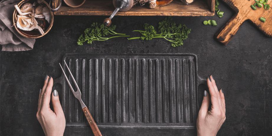 seasoning a griddle